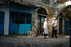 Early talk in the Medina. (Pierre Bodilis) Tags: medina street tunistunistunisiatn