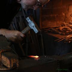 Blacksmith (MikeOB64) Tags: blacksmith forge iron glow hammer craftsman ryhopeenginesmuseum