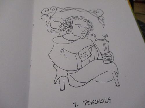 1. poisonous #Inktober #Inktober2018 by marcibeauku, on Flickr