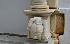 Paros 1 (orientalizing) Tags: architecture base cityscape cyclades desktop featured gargoyle greece islands marble paroikia paros sculpture town