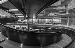 Bloomberg (handmiles) Tags: mono monochrome blackandwhite bw bloomberg building london londonopenhouse curl twist architecture stairs staircase indoor inside office space gopro mileshandphotography2018