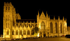 Cathedral of St. Michael and St. Gudula (Valantis Antoniades) Tags: cathedral st michael gudula brussels belgium night gothic