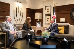 جلالة الملك عبدالله الثاني يستقبل مساعدة وزير الخارجية الأمريكي لشؤون الحد من التسلح إليم بوبليت (Royal Hashemite Court) Tags: kingabdullahii jordan us royalhashemitecourt