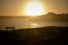 Take a seat (Nige H (Thanks for 15m views)) Tags: nature landscape sunrise dawn cornwall newquay sea seascape silhouette england southwestengland kernow bench happybenchmonday seat