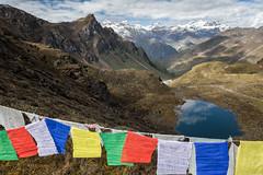 Panorama from Keche La pass - Gasa District - Snowman Trek - Bhutan (PascalBo) Tags: nikon d500 asie asia southasia asiedusud drukyul drukgyalkhap bhutan bhoutan འབྲུག་ཡུལ། འབྲུག་རྒྱལ་ཁབ་ snowman trek trekking hike hiking lunana gasa himalaya himalayas jigmedorjinationalpark mountain montagne buddhism bouddhisme religion lake lac outdoor outdoors pascalboegli