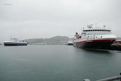 """""""Værøy"""", """"Landegode"""" og """"Spitsbergen"""" (OlafHorsevik) Tags: værøy landegode spitsbergen torghattennord thn ferge ferga ferry ferja ferje hurtigruten"""