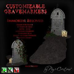 ღ ♡  Gravemarkers - Immortal Beloved Lt by Page Creations™ ♡ ღ (Raven Page) Tags: halloween props decor mesh spooky scary fog pumpkins gothic goth
