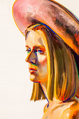 Girl With Pink Hat (Thomas Hawk) Tags: california girlwithpinkhat museum sfmoma sanfrancisco sanfranciscomuseumofmodernart waynethiebaud painting fav10 fav25