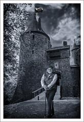 Lord of the Manor (Mal.Durbin Photography) Tags: castlecoch maldurbin photoshop creation redcastle southwalesuk monochrome blackwhite
