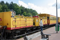Journey from Villefranche-de-Confluent to Mount-Louis and return on the uncomfortable and not recommended Yellow Train (doublejeopardy) Tags: frencharmy fort mountlois trainjaune base yellowtrain lacabanasse pyrénéesorientales france fr