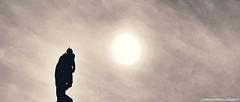 """Walking"" like a statue towards the sun ... (Federico Fulcheri Photo) Tags: federicofulcheriphoto© duomomilano milano blackandwhite silence artist art man one dark statue silhouette walking clouds sky sun stone outdoors snapseed iphonex iphone apple"