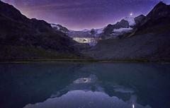 Starlight Reflection, Moiry Glacier, Switzerland (swissukue) Tags: glacier nightreflection nightshot stars valais switzerland sonya9