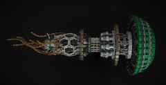 Pleurotus Flight - Poster Shot (Inthert) Tags: lego spaceship space ship shiptember moc jellyfish pleurotus flight