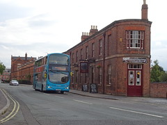 Arriva Derby 4224 Brunswick Inn (Guy Arab UF) Tags: arriva derby 4224 fj58kxy volvo b9tl wright eclipse gemini bus the brunswick inn railway terrace derbyshire buses