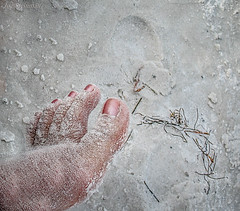 Footprint in the Sand (JDS Fine Art Photography) Tags: foot beach footprint sand closeup inspirational