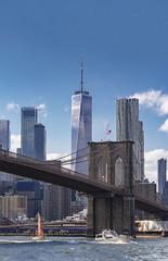 Big Apple (tomas.jezek) Tags: city usa nyc newyork bigapple skyscraper skysrapers river bridge manhattan brooklyn brooklynbridge sail sailing ships boats boat