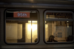 Making Your Way (aerojad) Tags: eos canon 80d dslr 2018 autumn outdoors city urban chicago goldenhour sunset uptown cta thel train trains silhouette people postthepeople stranger strangersinmyfeed busystranger