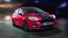 "Ford Fiesta со лента што кажува ""не можеш да ме престигнеш"" (automedia_mk) Tags: ford fordfiesta fordfiestablack fordfiestared fordfiestaredandblackedition"