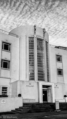 A Step Back in Time (Mirrored-Images) Tags: architecture artdeco blackandwhite clouds facade midlandhotel mono monochrome morecambe silverefexpro