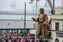 Liverpool's Dream (Tony Shertila) Tags: jeanluc courcoult liverpool dream liverpools new brighton royal de luxe england britain europe giants marionettes merseyside puppets wirral â©2018tonysherratt 20181005121654liverpooldreamgiantsnewbrightonlr jeanluccourcoult liverpooldream liverpoolsdream newbrighton royaldeluxe ©2018tonysherratt wallasey unitedkingdom