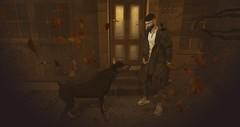 Can't Buy Loyalty (Noctis Radikal) Tags: secondlife sl digital art avatar dog stealthic valekoer kalback jeans parka parker coat jacket autumn fall leaves bigdog