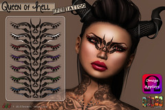 [ S H O C K ] Queen of Hell - Face Tattoo Omega Applier ([ S H O C K ] Factory (Ilary Resident)) Tags: shockfactory shock face tattoo secondlife omega system appliers