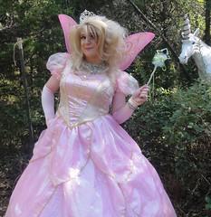 Photobombed by a unicorn (rgaines) Tags: costume cosplay crossplay drag fairyprincess fairygodmother coxfarms unicorn