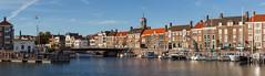 Panorama Middelburg (Tom van der Heijden) Tags: middelburg panorama haven oostkerk zeeland walcheren canon eos eos60d canoneos60d water boot