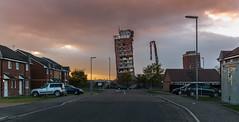 Red Road flats Glasgow just after demolition