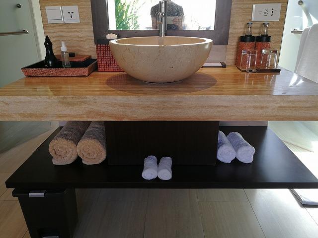 <p>洗面台にはボウルが1つ</p>