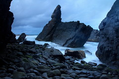 Other Worldly (Darren Schiller) Tags: crescenthead newsouthwales cave sea stack rockformation ocean coast beach dusk evening rocks waves australia