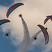 Airshow paragliders