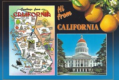 California Capital Map Postcard (paflip25) Tags: california map capital postcard
