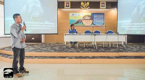 Sunarto from Tolitoli Presenting Tolitoli Communication Strategy