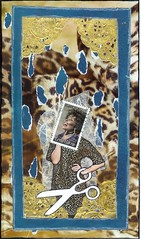 Picture This (WORD)! Postcard tag (Rocky_Beach) Tags: swapbot mailart postcard blue gold scissors
