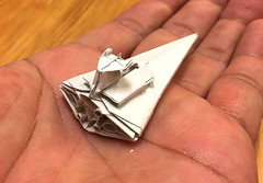 Imperial cockroach destroyer origami (Matayado-titi) Tags: sugamata spaceship starship starwars space shusugamata stardestroyer destroyer origami matayado imperial