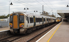 GoVia Thameslink Great Northern . 387114 . Ely Station , Cambridgeshire . Monday 08th-October-2018 . (AndrewHA's) Tags: cambridgeshire ely railway station train govia thameslink great northern class 387 electric multiple unit bombardier derby electostar 387114 1t38 kings cross london kingslynn norfolk fenland passenger service transport