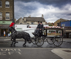 Funeral Carriage, West Norwood (London Less Travelled) Tags: uk unitedkingdom britain england london south lambeth norwood westnorwood cemetery funeral carriage hearse horse horsedrawn plume city street urban