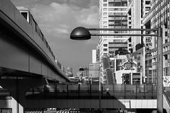 Odaiba, Tokyo, Japan (Plan R) Tags: odaiba building bridge train monochrome blackandwhite tokyo leica m 240 summilux 35mm