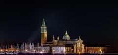 Venezia, chiesa di San Giorgio Maggiore (Gian Floridia) Tags: sangiorgiomaggiore venezia venice bynight chiesa longexposure notturno