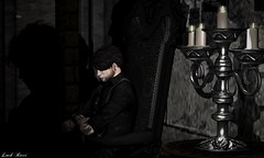 Official Business (Lance Carthage Lock) Tags: dark blog blogger blogging shadow shadows second life secondlife art portrait candle goth gothic vampire castle medieval
