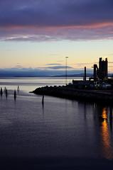 Norway - Trondheim (☺dannicamra☺) Tags: norway norwegen norge trondheim sunrise water sea sky violet blue nature light sonnenaufgang wasser meer himmel lila natur fabrik bucht ozean nikon d5100