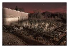 In an owl's world (Markus Lehr) Tags: tracks canyon ravine quarry starlight cliff shadows rocks longexposure availablelight night nightshot atmosphere urbanspace mood cinematic manmadelandscape contemporaryphotography franconianswitzerland germany markuslehr