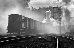 Shunting the vans (ralph.ward15) Tags: steam smoke train swithland gcr atmosphere