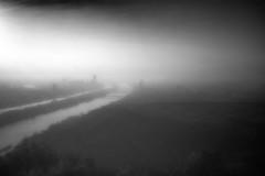 Sunrise (ManuelaRi) Tags: landscape experimentell sunrise donau trees water river cityscape dizzy danube brücken bridge