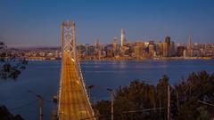 Dawn (Juan Pablo J.) Tags: skyline bayarea baybridge sanfrancisco sunrise dawn cityscape citylights longexposurephotography landscapes california canon5dmkii canon24105mmf4l city