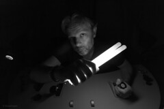 The Blackout (sdupimages) Tags: noirblanc blackwhite nb bw lowkey cab eurostar tgv train driver man portrait selfie selfportrait