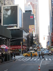 Halloween 2018 Movie Billboard 3132 (Brechtbug) Tags: halloween 2018 movie billboard horror film billboards nyc 10202018 new york city michael myers jamie lee curtis judith john carpenters no dr samuel sam loomis doctor adventure holiday 7th ave avenue 50th st street standee monster killer knife slasher 1978 was original 40 years ago