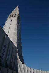 The Hallgrimskirkja Tower (peterkelly) Tags: digital canon 6d gadventures bestoficeland iceland europe reykjavik hallgrimskirkja guðjónsamúelsson church tower blue sky