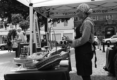 Farmers Market (Bury Gardener) Tags: nikond7200 nikon england britain 2018 snaps eastanglia uk suffolk streetphotography street streetcandids strangers candid candids people peoplewatching folks blackandwhite bw buttermarket